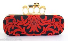 ALEXANDER McQUEEN ARABESQUE VELVET KNUCKLE SKULL BOX CLUTCH BAG BNWT