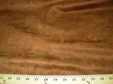 ~15 YDS~PAISLEY FLOWERS~FAUX  SUEDE~UPHOLSTERY FABRIC ~FABRIC FOR LESS~