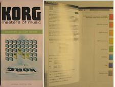 KORG MASTERS OF MUSIC - KORG KEYBOARD POCKET GUIDE 2002