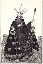 HARRY CLARKE Art DECO Nouveau King VINTAGE Art MATTED 1940 Picture Print
