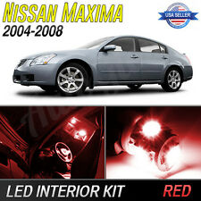Red LED Interior Lights Package Kit for 2004-2008 Nissan Maxima