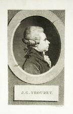 c1800 Thouret Jacques Französische Revolution Kupferstich-Porträt Claessens