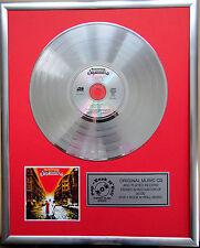 """Supermax - World of Today CD/Cover gerahmt +12""""Deko goldene Vinyl Schallplatte"""