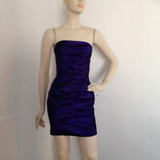 Jessica McClintock Purple Ruched Strapless Mini Dress XS/S Party Prom Evening