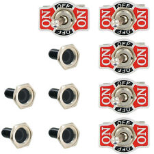5 X Heavy Duty 20A 125V SPDT 3Pin ON/OFF/ON Rocker Toggle Switch Boot Cap