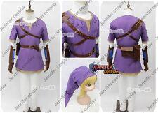 The Legend of Zelda Zelda Link Cosplay Costume Ver.Purple