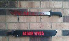 friday 13th Jason Voorhees Machete Halloween (prop) blood splatter zombie killer