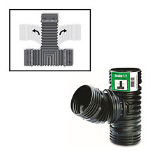 """FLEX-Drain 53702 T / Y Corrugated Coupler, Connects to 3"""" and 4"""" Pipe"""