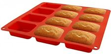 Silicone Mold Home Kitchen Dining Bakeware Bread Loaf Pans Cupcake Making New
