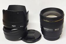 Sigma  1,4 / 85 mm EX DG HSM   Objektiv A-Mount Kameras gebraucht in ovp