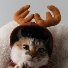 Pet Cat Dog Cap Hat For Puppy Teddy Animal Shapeshift Christmas Reindeer Costume