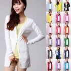 Fashion Women Casual Long Sleeve Knitted Cardigan Sweater Top Outwear Jacket New