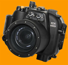 UNDERWATER HOUSING per Canon EOS 600D Kiss X5 Rebel T3i Fotocamera Custodia Impermeabile
