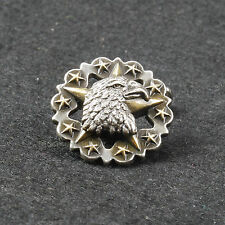 Leathercraft Eagle Star Screwback Concho Ancient Silver Gold Plated 25mm