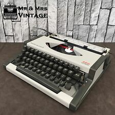 Immaculate Olympia Traveller De Luxe S Grey Typewriter Working Black Red Ribbon