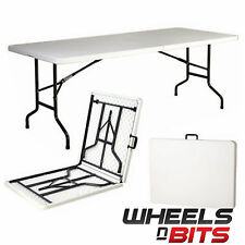 J-Living 6FT 1.8M Folding Trestle Table Heavy Duty Plastic Portable Party BBQ