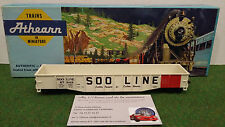 WAGON TRAIN 50' OPEN OR COVERED GONDOLA SOO LINE blanc au 1/87 d HO ATHEARN 1646