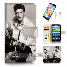 Samsung Galaxy S7 Flip Wallet Case Cover P3318 Elvis Presley