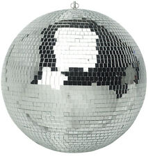 "New 500mm 20"" Silver Sparkling Disco Lights Halloween Party Large Mirror Ball"