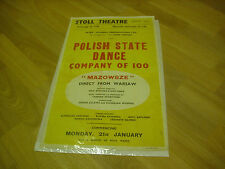 POLISH  State Dance Co  MAROWSZE  Direct WARSAW Original  STOLL  Theatre Poster