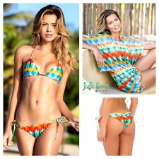 3 pc set Large Luli Fama Ocean Whispers Sexy Bikini & South Beach Dress Cover Up