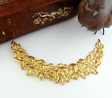 BRASS Floral Swag Collar Garland Flower Stampings - Finding (FC-8) `