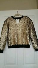 Gold metallic padore  sweater by eleven paris