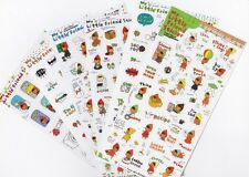 Red face My Little Friend Sticker 6 Clear PVC Label Sheet Ponybrown Iphone Diary