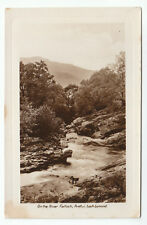On The River Falloch Ardlui Loch Lomond Real Photograph Old Postcard Unposted
