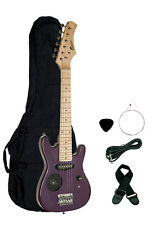 "New Raptor 30"" Kid's Electric Guitar w/ Built In Speaker - Purple FREE GIG BAG"