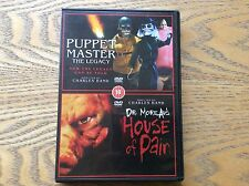 Puppet Master Legacy And House Of Pain Horror Double Dvd! Look In The Shop!