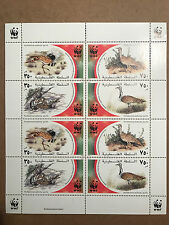 Scott 150a-d - Palestinian Authority/Palestine Sheet of 8 WWF Nature Fund - MNH