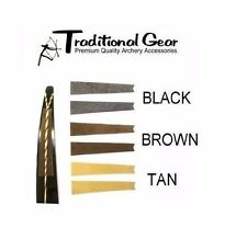 Traditional RECURVE BOW STRING GROOVE SILENCER COLOR - BROWN - Archery Silencers
