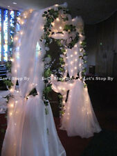 "NEW 90"" WHITE METAL ARCH - Wedding Party Bridal Prom Garden Floral Decoration"