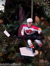 Theo Fleury Calgary Flames NHL Hockey Christmas Tree Ornament White Jersey