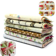 60PCS Coton 100% Tissu Patchwork Pois Carreaux Coupons Fleur Assorti DIY 10x10CM
