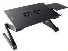 Portable Laptop Stand Desk Table Tray on sofa bed Cooling Fan With Mouse Pad