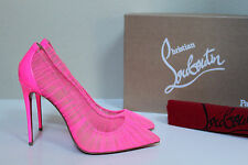 sz 6 / 36 Christian Louboutin Pink Follie Draperia Chiffon Pointed Toe Pump Shoe