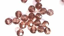 50 x 8mm Crystal Glass Faceted Round Beads - Pale Amethyst - A3611