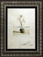Salvador Dali Authentic Color Etching HAND SIGNED Nude Female Portrait Vanite