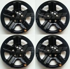 "BLACK Wheel Skins for 16"" Steel Wheels Compatible with 2007-2015 Jeep Wrangler"