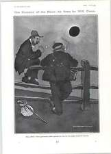 1905 Will Owen Tramps Solar Eclipse Cartoon What The Butler Saw
