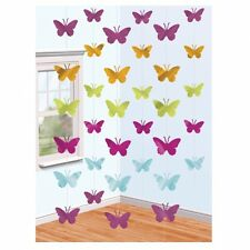 Pack of 6 x 7 foot butterfly strings wildlife spring garden party decoration