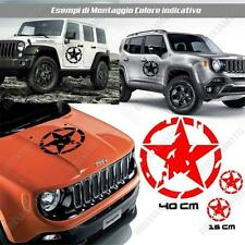 KIT 3 STICKERS STAR MUD BODYWORK GRAPHIC JEEP WRANGLER OFF ROAD RED