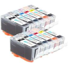 12 Ink Cartridges (6 Set) for Canon Pixma MP980, MP990, MX860