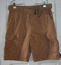 Airwalk Cargo Shorts 34 Tan Brown 100% Cotton New With Tags