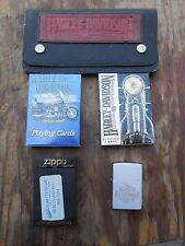 HARLEY DAVIDSON ZIPPO LIGHTER LEATHER WALLET 2 PACKS PLAYING CARDS