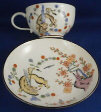 Antique Meissen Porcelain Royal Court Yellow Tiger Cup & Saucer Porzellan Tasse