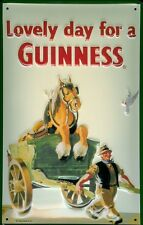 GUINNESS HORSE Vintage Metal Pub Sign | 3D Embossed Steel | Home Bar | Irish