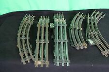 Vintage O-27 Gauge Model Train Track Set Collectible Locomotive Tender Boxcar